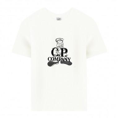C.P. Company Kids T-shirt bianca bambini by CP Company Kids ts048c003568w103-cpcompany29