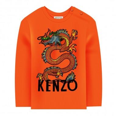 Kenzo T-shirt arancione bambino drago giapponese by Kenzo Kids kp10557-37kenzo29