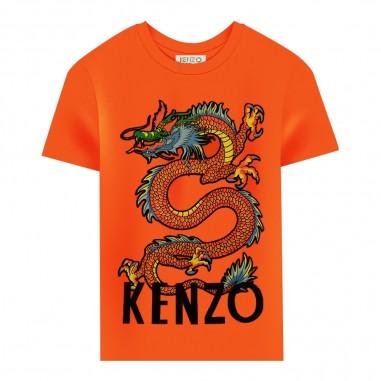 Kenzo T-shirt arancione bambino drago giapponese by Kenzo Kids kp10588-37kenzo29