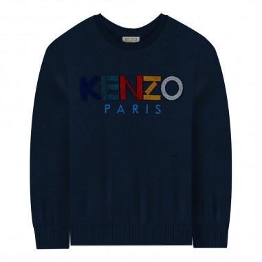 Kenzo Maglioncino blu bambino con logo by Kenzo Kids kp18558-0404kenzo29