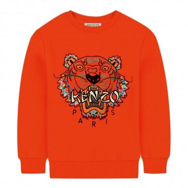 Kenzo Felpa arancione bambino logo tiger by Kenzo Kids kp15648-37kenzo29