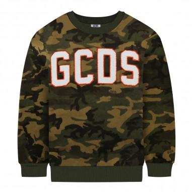 GCDS mini Felpa militare bambini by GCDS Kids 020468-590gcds29