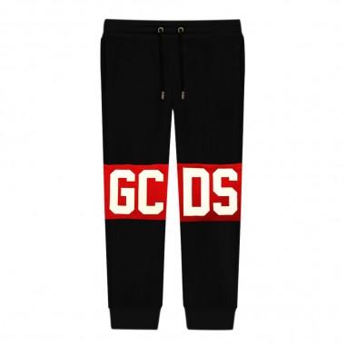 GCDS mini Pantalone tuta nero per bambini by GCDS Kids 020419-110gcds29