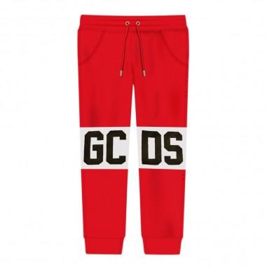 GCDS mini Pantalone tuta rosso bambino by GCDS Kids 020419-040gcds29