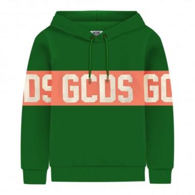 GCDS mini Felpa verde per bambini by GCDS Kids 020418-080gcds29