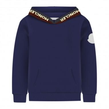 Moncler Felpa blu cappuccio bambino by Moncler Kids 9548202-205809b376amoncler29