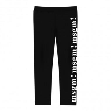 MSGM Girls black leggings by MSGM Kids 201170-110msgm29