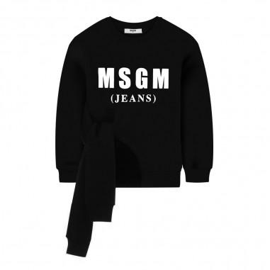 MSGM Felpa nera nodo per bambina by MSGM Kids 20292-110msgm29