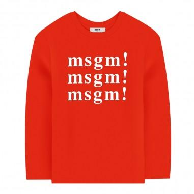 MSGM T-shirt rossa per bambini by MSGM Kids 20246-040msgm29