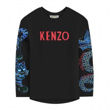 Kenzo T-shirt nera logo per bambino by Kenzo Kids kp10568-02kenzo29