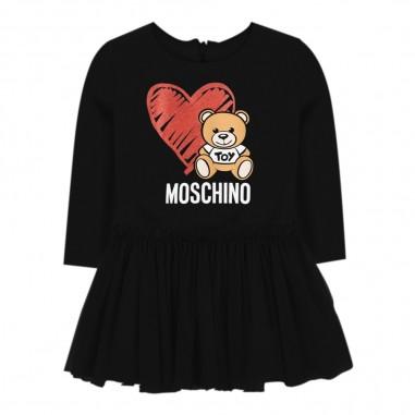 Moschino Kids Abito nero tulle neonata by Moschino Kids mdv07i-lda1660100mosch29