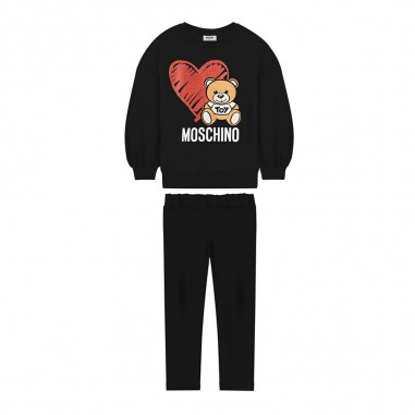 Moschino Kids Completo felpa e leggings nero neonata by Moschino Kids mdk01i-lda1660100mosch29