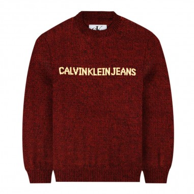 Calvin Klein Jeans Kids Maglione rosso bambino by Calvin Klein Junior IB0IB00307-ck29