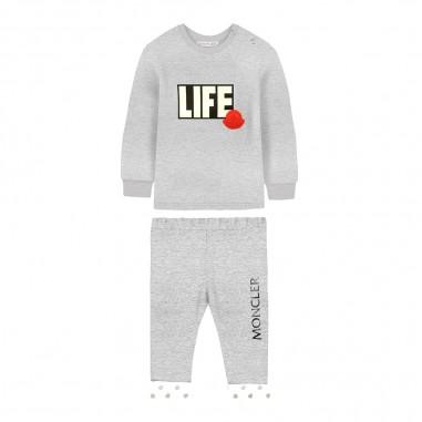 Moncler Completo grigio felpa e joggers per neonati by Moncler Kids 9518814-95080996986moncler29