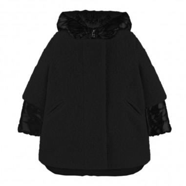 Monnalisa Piumino e cappotto staccabile nero per bambina by Monnalisa 174106-5001monnalisa29