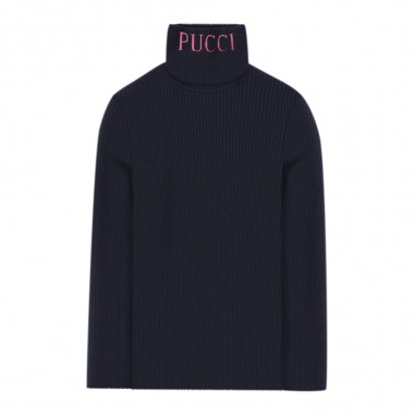 Emilio Pucci Junior Dolcevita blu bambina by Emilio Pucci Kids 9L9020-LX400620pucci29