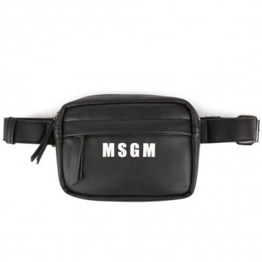 MSGM Girls black ecoleather bag by MSGM Kids 20275-110msgm29
