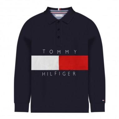 Tommy Hilfiger Kids Polo blu ragazzi by Tommy Hilfiger Bambino kb0kb05121-cbktommy29