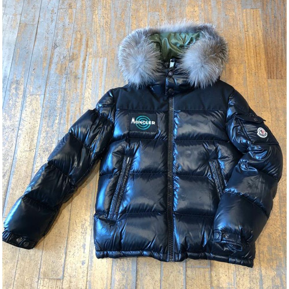 low priced d6dfe 509ff Piumino nero wilson bambini by Moncler Kids