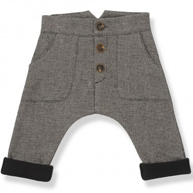 1+ In the Family Beige baby trousers in fleece cotton by One more in the family prato-beigeonemore29