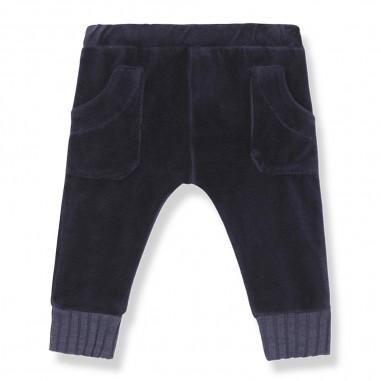 1+ In the Family Pantalone blu in ciniglia per neonato by 1+ in the family pilos-darkblueonemore29