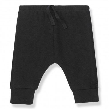 1+ In the Family Black fleece cotton baby joggers by 1+ in the family torino-blackonemore29
