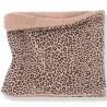 Scaldacollo reversibile leopardato e rigato per neonati by OneMoreInTheFamily