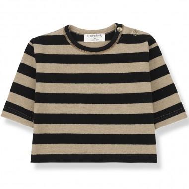 1+ In the Family T-shirt per neonati by OneMoreInTheFamily vienna-blackbeigeonemore29