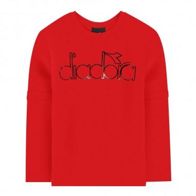 Diadora T-shirt rossa per bambino by Diadora Junior 021343-040diadora29