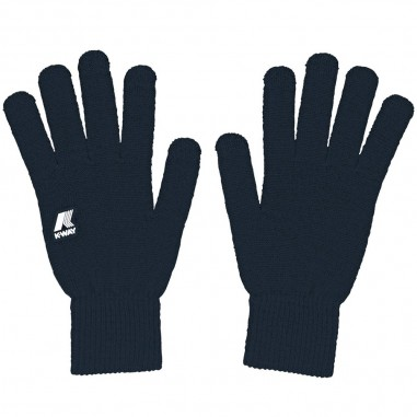 K-Way Unisex navy blue gloves alfred cardigan stitch by K-Way Kids k008k10-728kway29