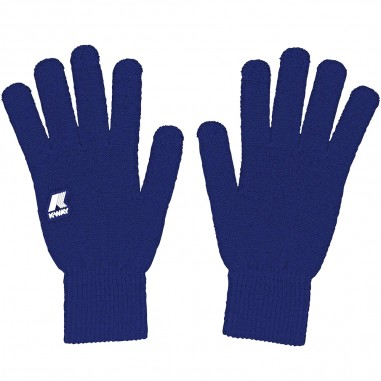 K-Way Unisex royal blue gloves alfred cardigan stitch by K-Way Kids k008k10-808kway29