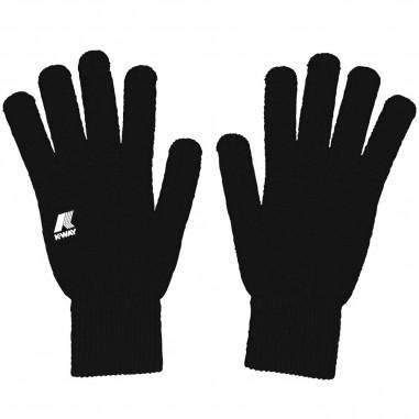 K-Way Unisex black gloves alfred cardigan stitch by K-Way Kids k008k10-k02kway29