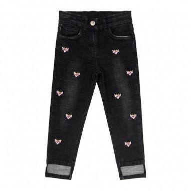 Monnalisa Pantalone nero pantera rosa bambina by Monnalisa 194405ra-0050monnalisa29
