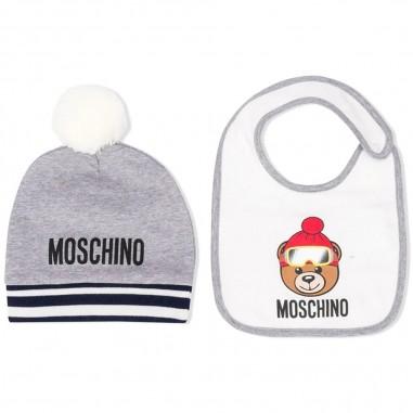 Moschino Kids Set cuffia e biberon grigio per neonati by Moschino Kids muy02j-lda1460901mosch29