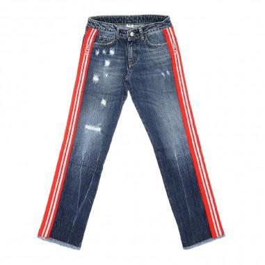 GCDS mini Blue denim jeans by GCDS Kids 020459-200gcds29