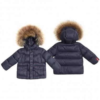 Freedomday Blue baby boys down jacket w/fur Andres by Freedomday Kids ifrn5013u325-rdrf013freedom29