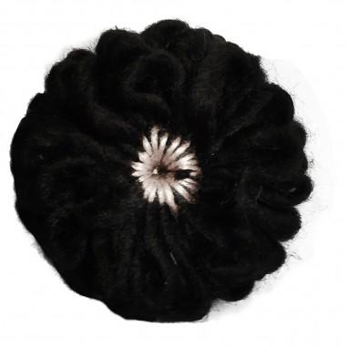 Caffè d'Orzo Girls black flower brooch by Caffè d'orzo odina-nerocaffe29