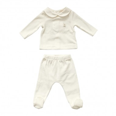 Filobio White chenille 2 piece babysuit by Filobio setdelicev02wfilobio29