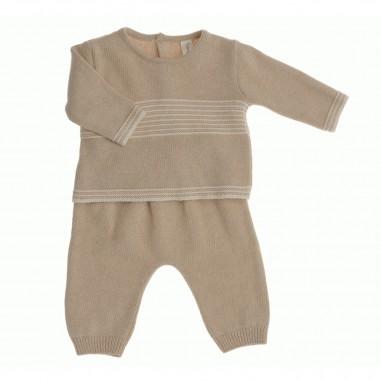 Natura Pura Knitted shirt & trousers set bb13205-naturapura29