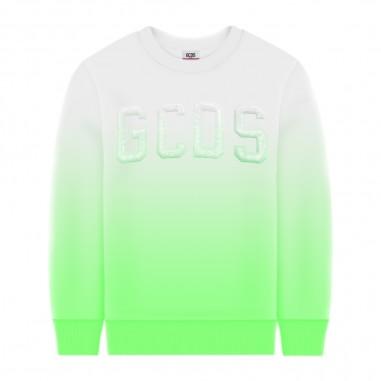 GCDS mini Felpa Gradiente Verde Fluo Ragazzo - GCDS mini 022565-gcdsmini20