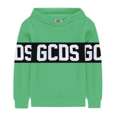 GCDS mini Felpa Cappuccio Verde Fluo - GCDS mini 022507fl-169-gcdsmini20