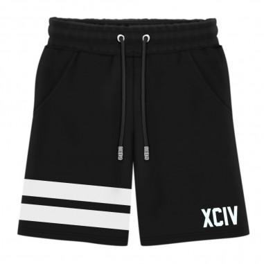 GCDS mini Boys Black Cotton Bermuda - GCDS mini 022524-gcdsmini20