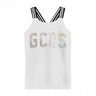 GCDS mini Girls White Top Tank - GCDS mini 022732-001-gcdsmini20