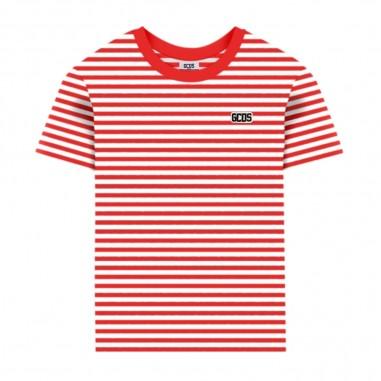 GCDS mini Boys Striped T-Shirt - GCDS mini 022481-040-gcdsmini20