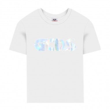 GCDS mini T-Shirt Bianca Iridescente Ragazzo - GCDS mini 022597-001-gcdsmini20