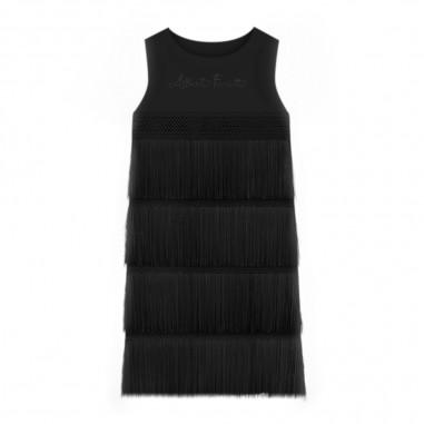 Alberta Ferretti Junior Girls Black Crepe Dress - Alberta Ferretti Junior 022173-110-ferrettijunior20