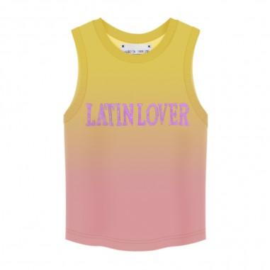 Alberta Ferretti Junior Girls Yellow & Pink Top Tank - Alberta Ferretti Junior 022193-02020-ferretti20