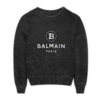 Balmain Kids Black Sweater - Balmain Kids 6m9700-mb520-930-balmainkids20