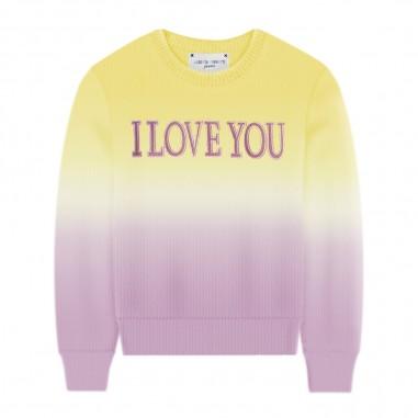 Alberta Ferretti Junior Girls Yellow & Pink Sweater - Alberta Ferretti Junior 022189-02020-albertaferrettijunior20