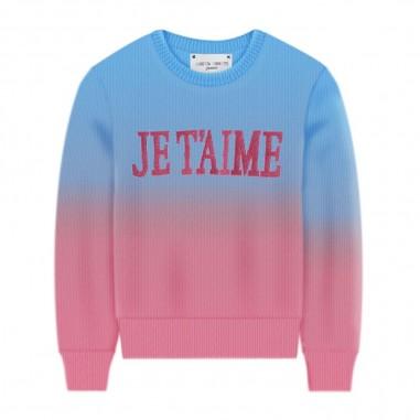 Alberta Ferretti Junior Girls Fuchsia & Azure Sweater - Alberta Ferretti Junior 022189-05103-albertaferrettijunior20
